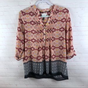 Anthropologie HD in Paris Floral Blouse